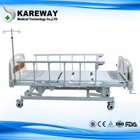 Wholesale Aluminum Side Rails Manual Hospital Bed 3 Cranks with Dining Table for Private Hospital from china suppliers