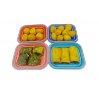 Wholesale Small Silicone Collapsible Lunch Box 1 Compartment Square Shape from china suppliers