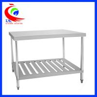 Wholesale Resturant kitchen stainless steel work table with shelves /  work benches from china suppliers