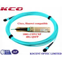 Wholesale MPO MPO 40G 1m 2m 3m OM3 Fiber Optic Patch Cord For QSFP+-40G-SR4 Cisco Huawei Compatible from china suppliers