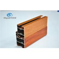 Wholesale Nature Polishing Custom Aluminum Extrusion Sliding Door Frames Wood Grain Cutting from china suppliers