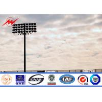 Wholesale 30m painting stadium high mast pole airport lighting with winch from china suppliers