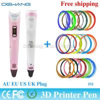 Wholesale Pink Digital Printer 3D Air Pen Modeling ABS Filament Arts LED Display from china suppliers