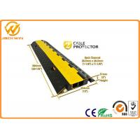 Quality 90 Degree Rubber Corner Cable Protector Ramp / 2 Channel Cable Protector for sale