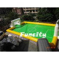 Wholesale Sealed Inflatable Football Games Inflatable Football Pitch Logo Printed from china suppliers