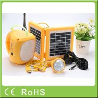 Wholesale 3.4W 9V 4500mah solar powered led panel light rechargeable camping lantern from china suppliers