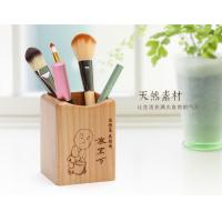 Wholesale Laser Graphic Mini Wooden Pen Stand 75 X 73 X 98mm Desktop Pen Holder Stand from china suppliers
