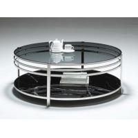 Wholesale Blue Glass Top And Steel Base Round Coffee Table Modern Home Furniture from china suppliers