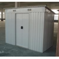 Wholesale Galvanized Steel Flat Roof Garden Shed , Prefab Nature Lawn Mower / Tools Sheds from china suppliers