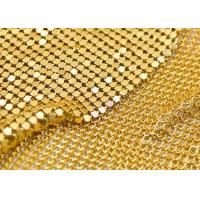 Professional Metallic Mesh Fabric Color Customized For Cloth / Shoes / Bag