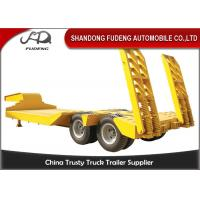 Quality Strong 25 Ton - 35 Ton Low Bed Semi Trailer , Two Axles 8 Wheel Trailer for sale