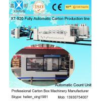 Wholesale Fully Automatic Inline Flexo Carton Box Printer Slotter Die Cutter with Folder Gluer Bundler from china suppliers