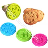 Wholesale FDA Gift Box,Eat Me,Diamond Design Food Grade Silicone Cookie Stamp Set With Wooden Handle from china suppliers