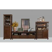 Quality American Antique Living leisure room furniture sets Wooden TV wall unit set by Floor stand and Tall display cabinet for sale