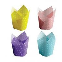 Wholesale Food grade oven Safe PE Coated Cake wrappers Paper baking Cups Cupcake Liners , Assorted,300 Pack from china suppliers