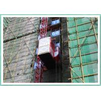 Wholesale Twin Cages Construction Site Building Material Lift , Rack And Pinion Elevator Manufacturers from china suppliers