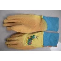 Quality XS blue color Rubber garden gauntlets Gloves With Latex Coated For kids for sale