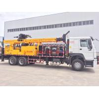 Quality 6x4 Truck mounted water well drilling rigs 600m hydraulic borehole , big diameter for sale