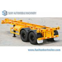 Wholesale 20ft 25 Ton Flatbed Semi Trailer Skeleton Semi Trailer With Mechanical Suspension from china suppliers