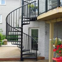 Wholesale Escape fire spiral staircase , wrought iron spiral stairs , hot galvanized spiral stair from china suppliers