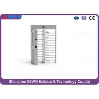 Buy cheap Single and Bi-direction Arm Turning RFID Card Reader Full Height Turnstile from wholesalers