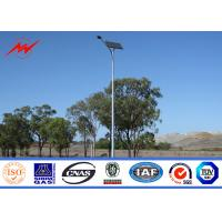 Quality 12m Galvanized Painted 400W Round Solar Street Lighting Poles For Road / Highway for sale