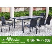Dining table and chairs rectangle dining table cast aluminum patio