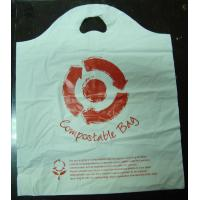 Wholesale 100% Compostable Plastic Bags Die Cut Shopping Bag in White from china suppliers