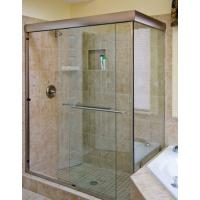 Wholesale Hotel Shower Doors Frameless Glass , Bathroom Doors Glass Bright from china suppliers
