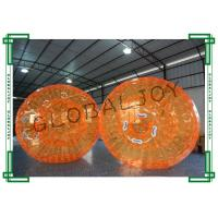 Wholesale Orange Inflatable Human Hamster Ball for Water , Inflatable Rolling Ball from china suppliers