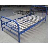 Wholesale Sing size simple metal frame bed, with eco-friendly wood slats,color customized from china suppliers