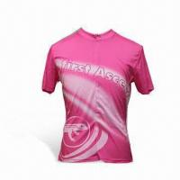 Wholesale Cycling Jersey with 3/4 Length Zip, Suitable for Ladies, OEM Orders are Welcome from china suppliers