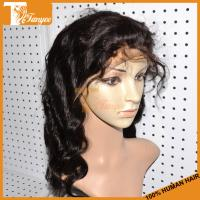Wholesale Drop Shipping Virgin Human Hair Body Wave Brazilian Hair Full Lace Wig With Baby Hair from china suppliers