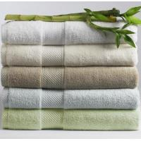 Wholesale Customizable Cotton Bamboo Towels For Bath / Hand / Face With Striped from china suppliers