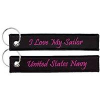 Wholesale United States Navy I Love My Sailor Key Chain Bag Tag Strap from china suppliers