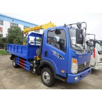 Wholesale bottom price SINO TRUK WANGPAI 3.2tons cargo truck with crane for sale, factory sale 3.2tons truck mountec crane from china suppliers