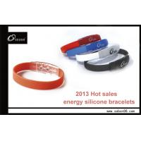 Wholesale Pure Titanium and Ceramic Color Wrist Power Balance Silicone Bracelet from china suppliers