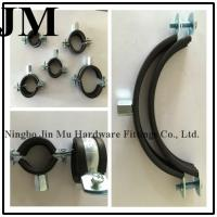 Wholesale Durable Round Insulated Pipe Clamps , M8 M10 Nut Rubber Coated Hose Clamps from china suppliers