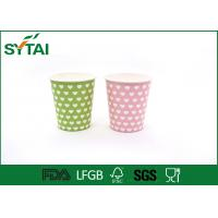 China Disposable Hot Drink Paper Cups , biodegradable coffee cups Single PE Coated on sale
