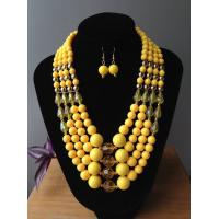 Wholesale Fashion Exporting designs fashionable four  layers acrylic/resin beads handmade jewelry set from china suppliers