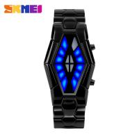 Wholesale Snake Eyes Style Metal Band Watch , Blue Light Business Wrist Watch from china suppliers