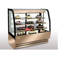 Quality Floor Standing Bakery Food Display Showcase Curved Cake Showcase Air Cooling for sale