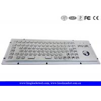 Wholesale 86 Keys IP65 Rated Stainless Steel Industrial Kiosk Keyboard With Trackball from china suppliers