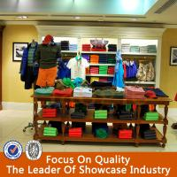 Wholesale new design wooden clothing store furniture/shelves for clothing store from china suppliers