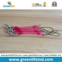 Wholesale Rose Red Slim Coil Key Chain W/Mini Lobster Claw Tether from china suppliers