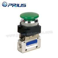 Quality 3 Way 2 Position Pneumatic Valve MSV86321PB , Round Green Button Mechanical Air Valve for sale