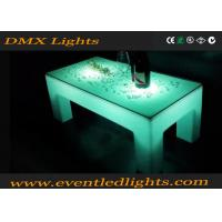 Wholesale Ourdoor indoor plastic Popular white color LED lighting portable bar table from china suppliers