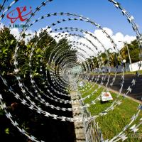 Wholesale CBT BTO Razor Security Barbed Wire for Railway and Lawn with Single / Cross Coil from china suppliers