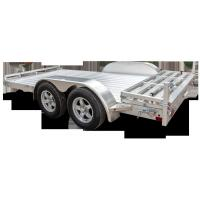 Wholesale 5 X 3 Tandem Axle Aluminum Trailer , Solid Axle Aluminum Box Trailer from china suppliers