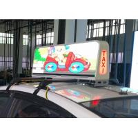 Wholesale IP66 Protection Taxi Top Led Sign Media Advertising , Led Taxi Display Long Life from china suppliers